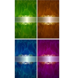 luxery label set vector image vector image