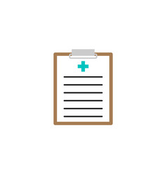 Medical clipboard solid icon medical form vector