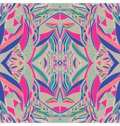 Ornamental paisley bandanna hand drawn background vector