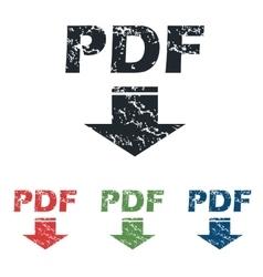 Pdf download grunge icon set vector