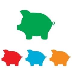 Pig money bank sign vector