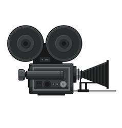Retro Movie Video Camera Icon on White Background vector image
