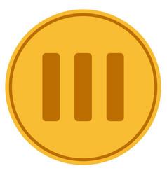 roman three gold coin vector image vector image