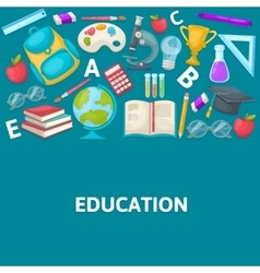 School colored composition vector