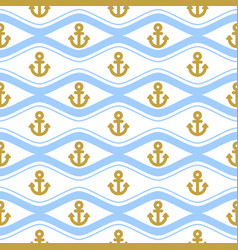 Seamless pattern with ropes and waves ongoing vector