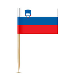 slovenia flag toothpick vector image vector image