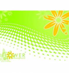 spring illustration with flower vector image
