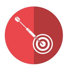 Targert dart game sport shadow vector