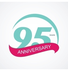 Template Logo 95 Anniversary vector image vector image