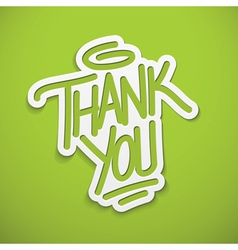 Thank you calligraphy label lettering vector