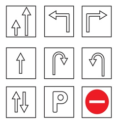 Tratraffic sign collections vector