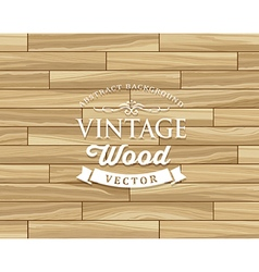 Vintage Tile wood floor striped design vector image