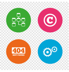 website database icon copyrights and repair vector image
