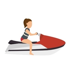 woman riding a jet sky vector image vector image
