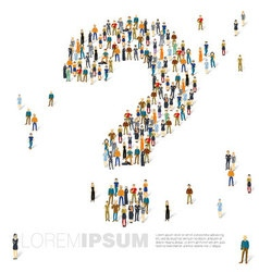 Question mark of people crowd template vector