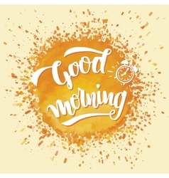 Good morning brush calligraphy vector