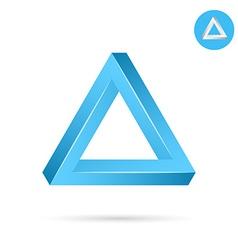 Delta letter icon vector
