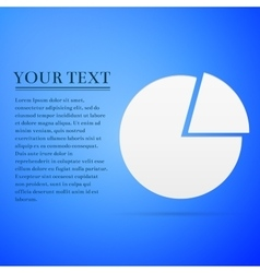 Business pie chart info graphics flat icon on blue vector