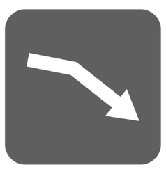 Fail trend flat squared icon vector