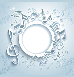 Abstract music frame vector