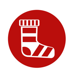 Merry christmas sock icon vector