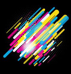 Abstract trendy design vector