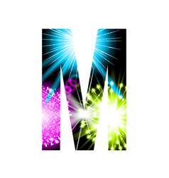 Sparkler firework letter isolated on white vector