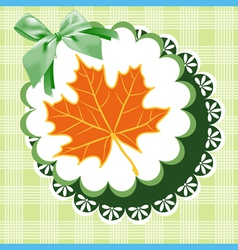 Doily autumn vector