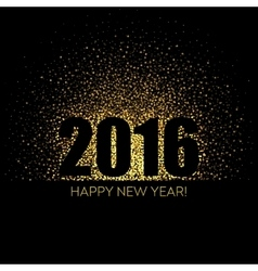 2016 Happy New Year glowing background vector image