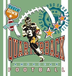 Quarterback football vector