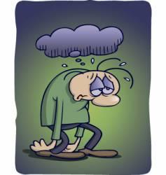 depressed vector image