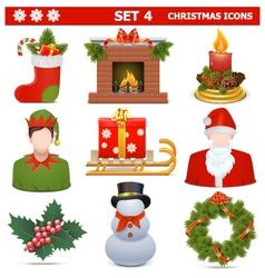 Christmas Icons Set 4 vector image