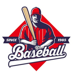 Baseball player hold a bat vector