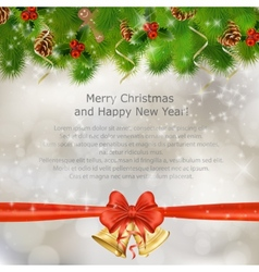 Xmas greeting card vector