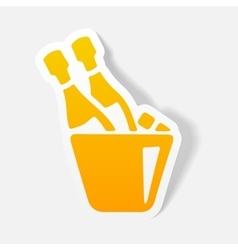 Realistic design element champagne vector