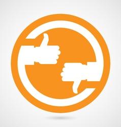 Thumb up and thumb down - like sign vector