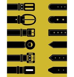 Belts for clothing schematic image vector
