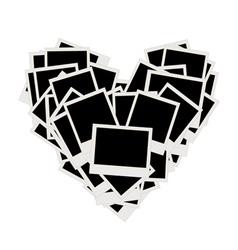 photos heart shape vector image