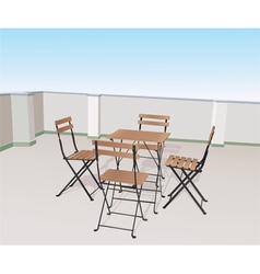 chairs on terrace vector image