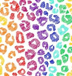 Rainbow seamless pattern of leopard skin vector