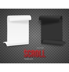 Set of folded black and white paper sheets vector