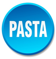 Pasta blue round flat isolated push button vector