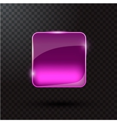 Colored glass button for web interface vector