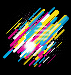 Abstract trendy design vector