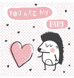 Baby hedgehog vector