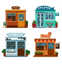 buildings that are shops vector image