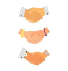 Business handshake iconset vector