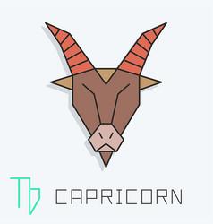 Capricorn sign vector