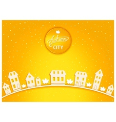 Cartoon autumn city vector