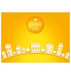 Cartoon autumn city vector image